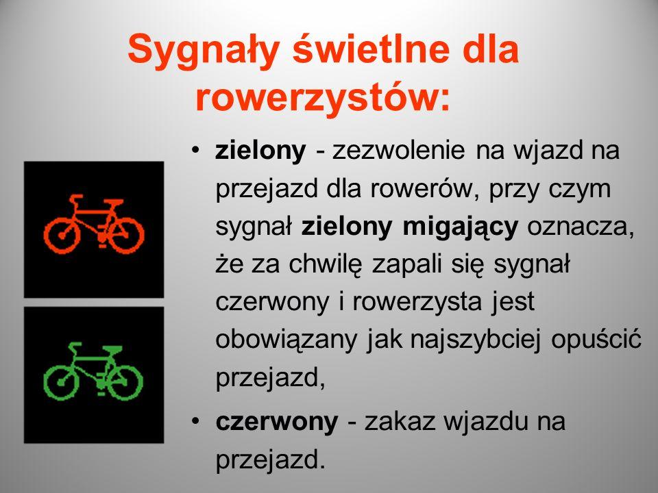 Sygnały świetlne dla rowerzystów: