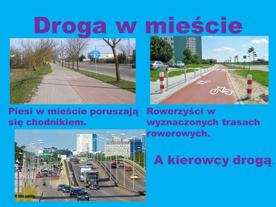 Droga w mieście A kierowcy drogą.