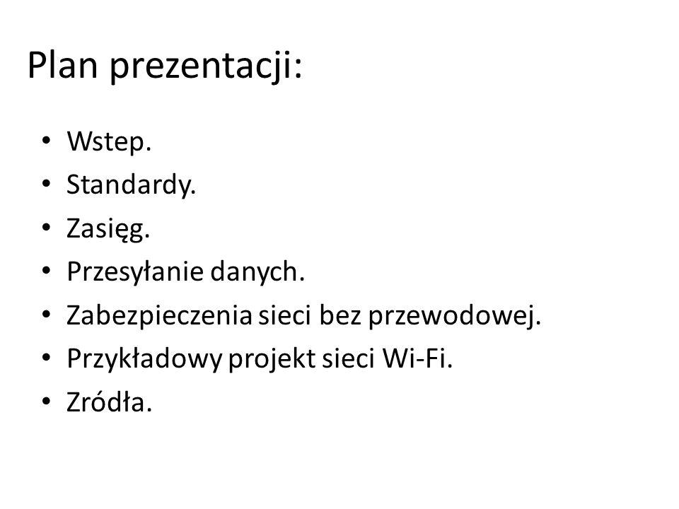 Plan prezentacji: Wstep. Standardy. Zasięg. Przesyłanie danych.