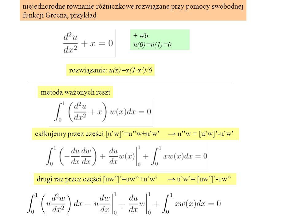 niejednorodne równanie różniczkowe rozwiązane przy pomocy swobodnej