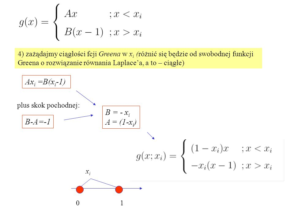 Axi =B(xi-1) B = - xi A = (1-xi) B-A=-1
