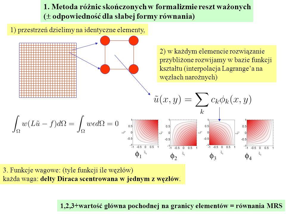 1. Metoda różnic skończonych w formalizmie reszt ważonych