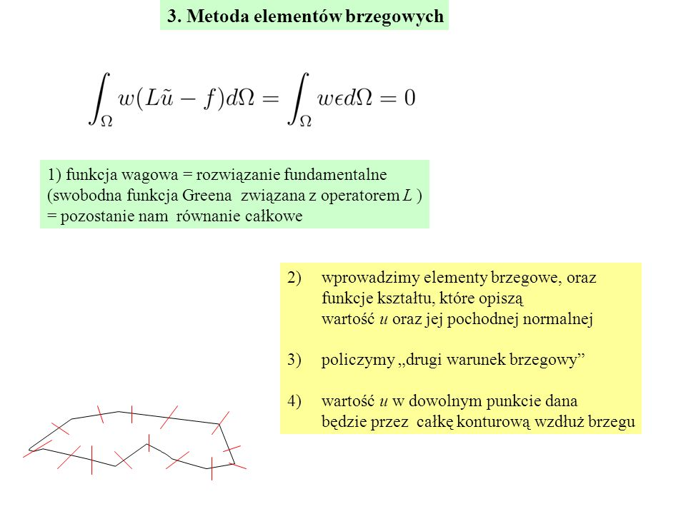 3. Metoda elementów brzegowych
