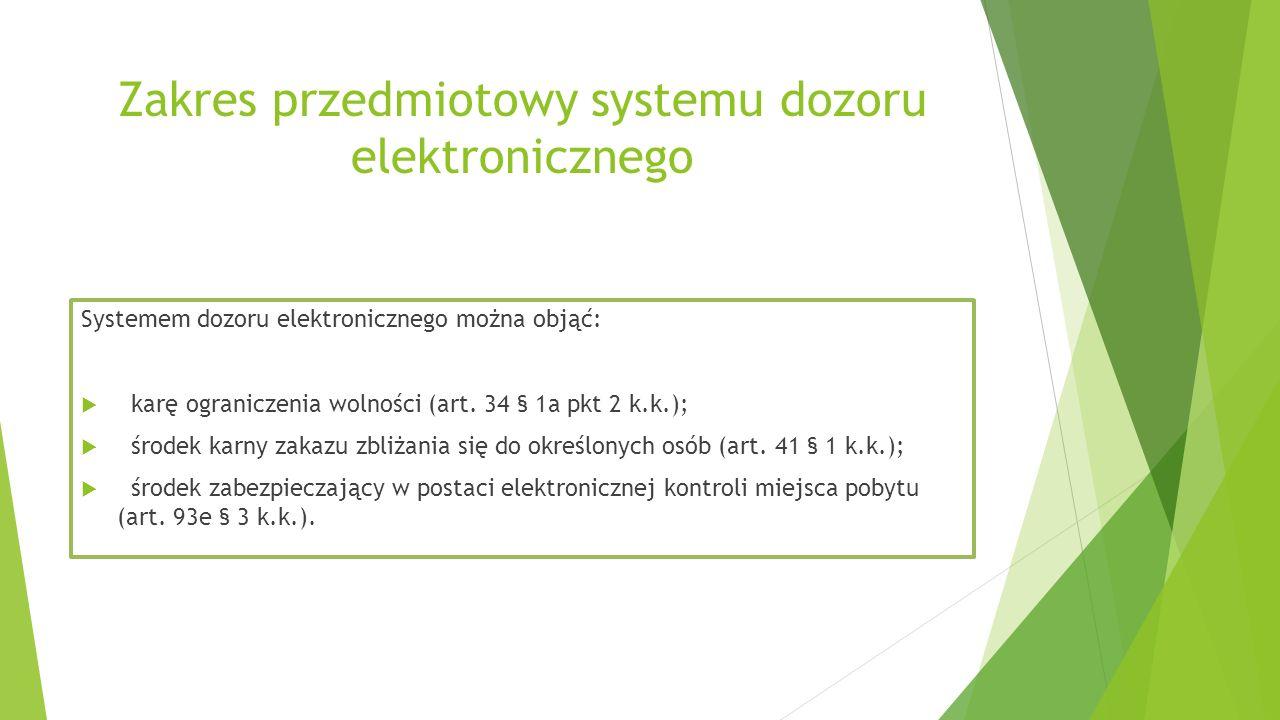 Zakres przedmiotowy systemu dozoru elektronicznego