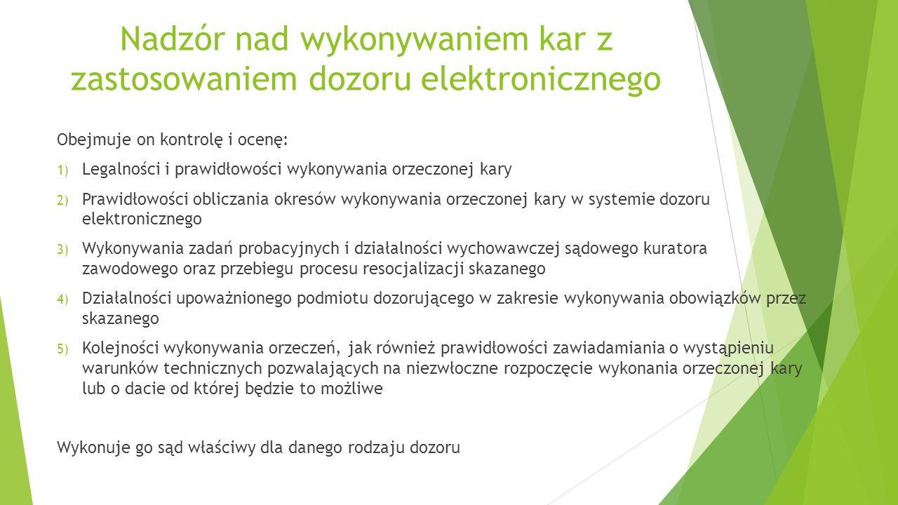 Nadzór nad wykonywaniem kar z zastosowaniem dozoru elektronicznego