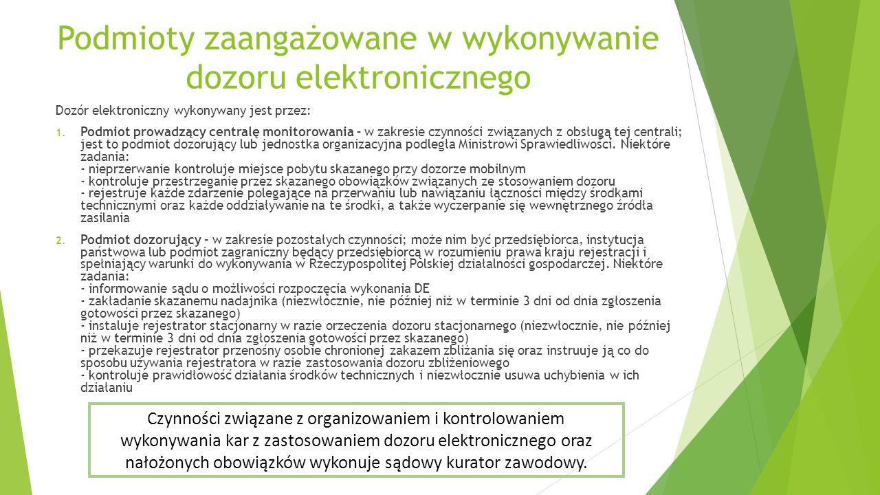 Podmioty zaangażowane w wykonywanie dozoru elektronicznego