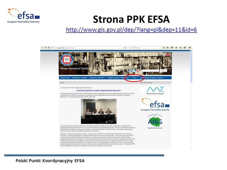 Strona PPK EFSA http://www.gis.gov.pl/dep/ lang=pl&dep=11&id=6