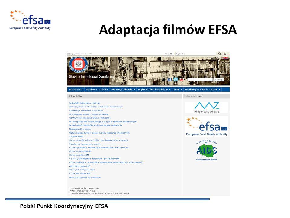 Adaptacja filmów EFSA Polski Punkt Koordynacyjny EFSA