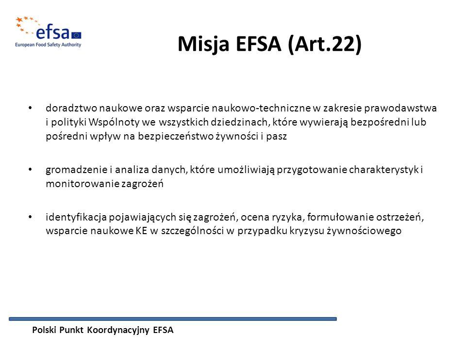 Misja EFSA (Art.22)