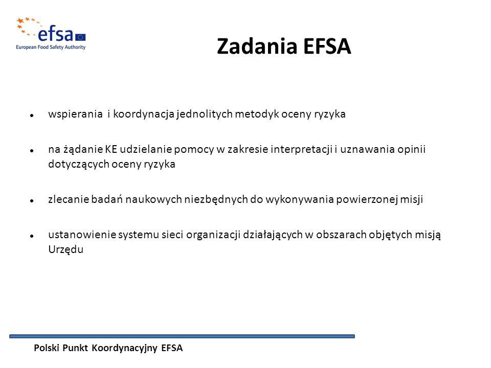Zadania EFSA wspierania i koordynacja jednolitych metodyk oceny ryzyka