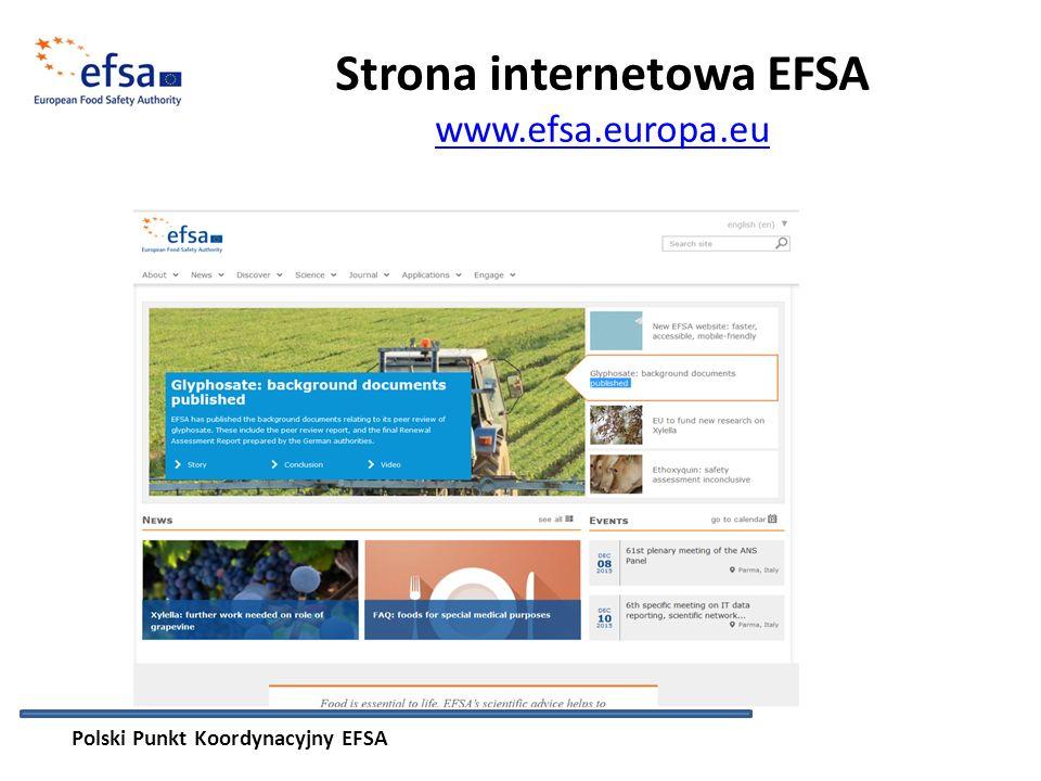 Strona internetowa EFSA www.efsa.europa.eu