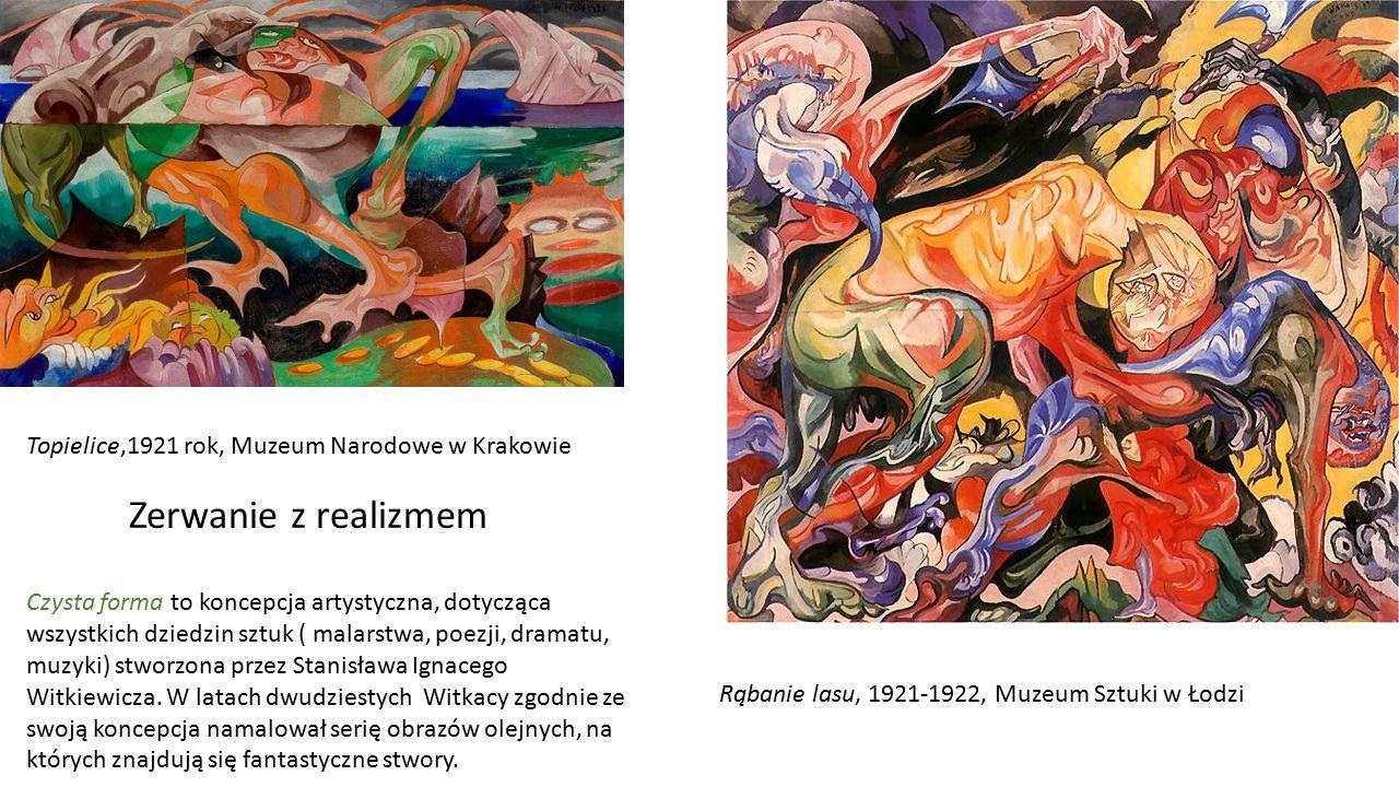 Zerwanie z realizmem Topielice,1921 rok, Muzeum Narodowe w Krakowie
