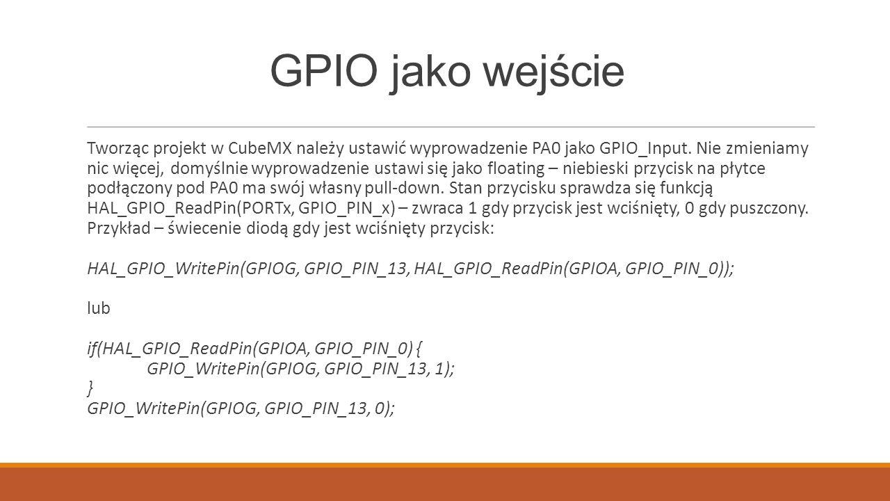 GPIO jako wejście