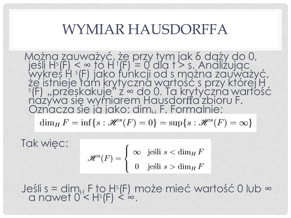 Wymiar Hausdorffa