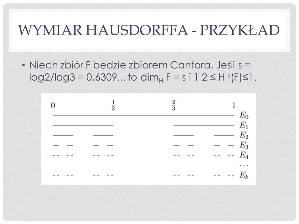 Wymiar Hausdorffa - Przykład