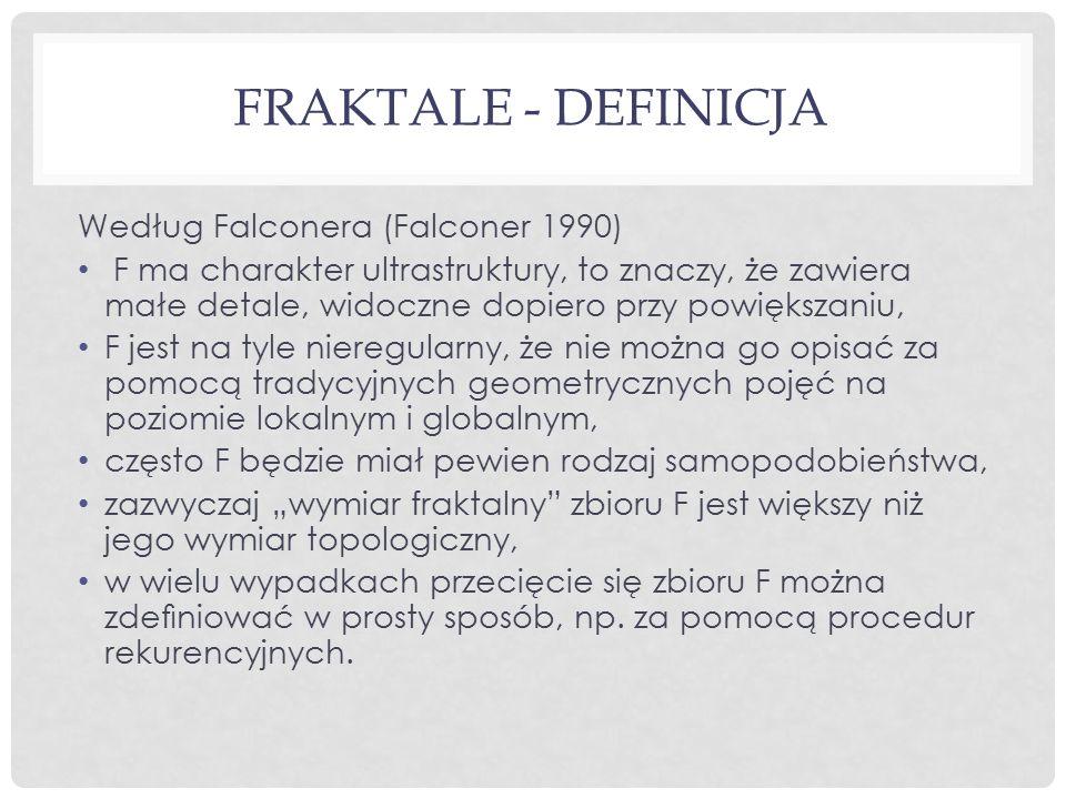 Fraktale - definicja Według Falconera (Falconer 1990)