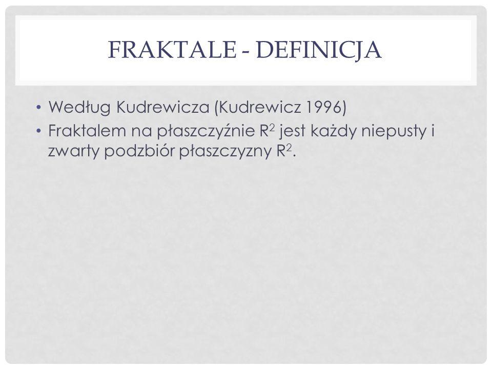 Fraktale - definicja Według Kudrewicza (Kudrewicz 1996)