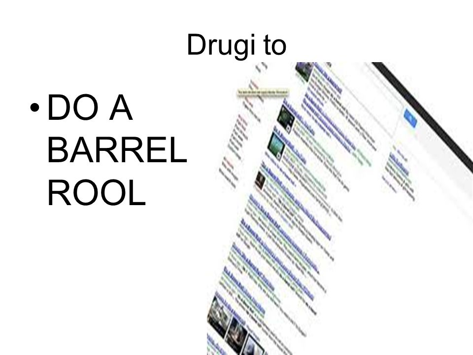 Drugi to DO A BARREL ROOL
