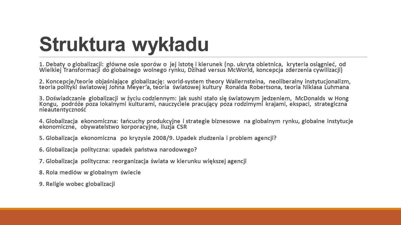 Struktura wykładu