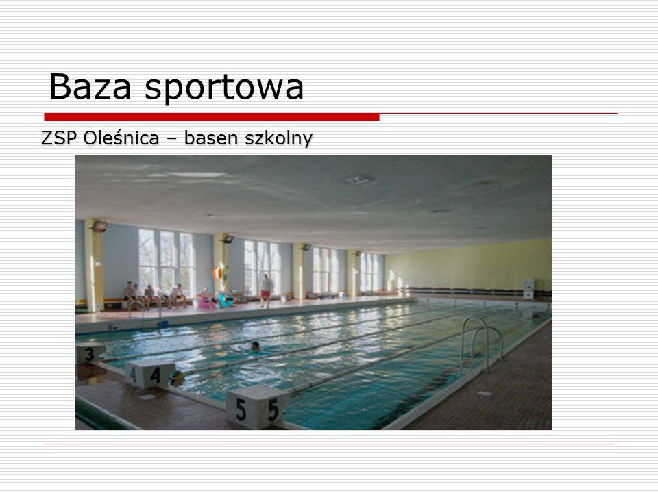 Baza sportowa ZSP Oleśnica – basen szkolny 10