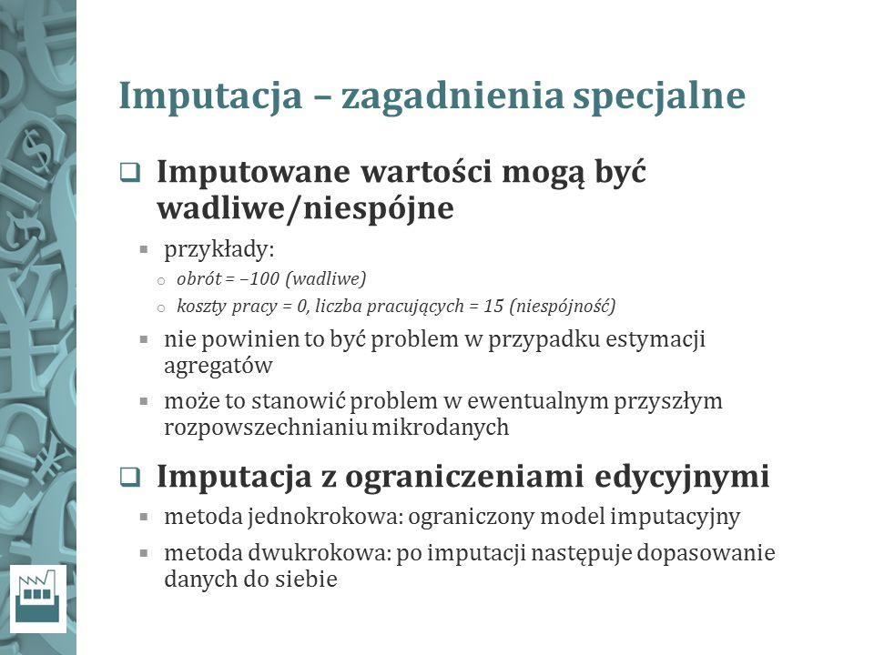 Imputacja – zagadnienia specjalne
