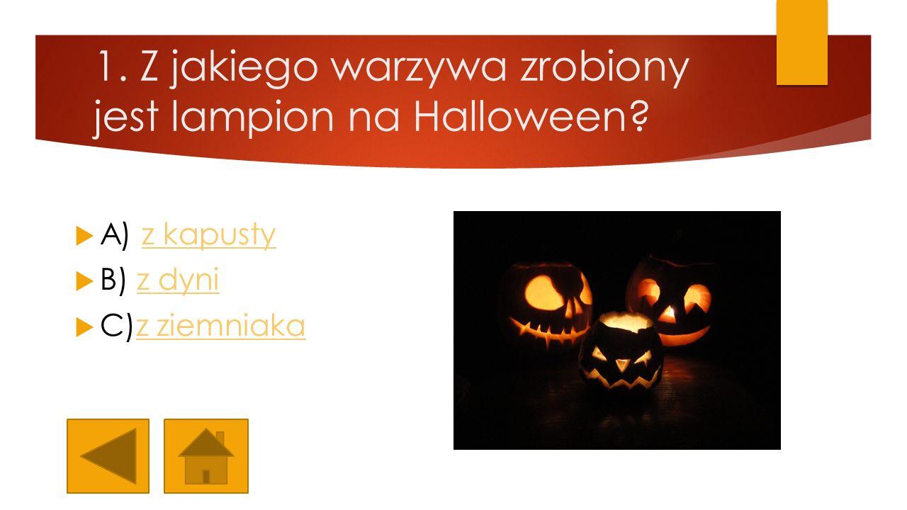 1. Z jakiego warzywa zrobiony jest lampion na Halloween