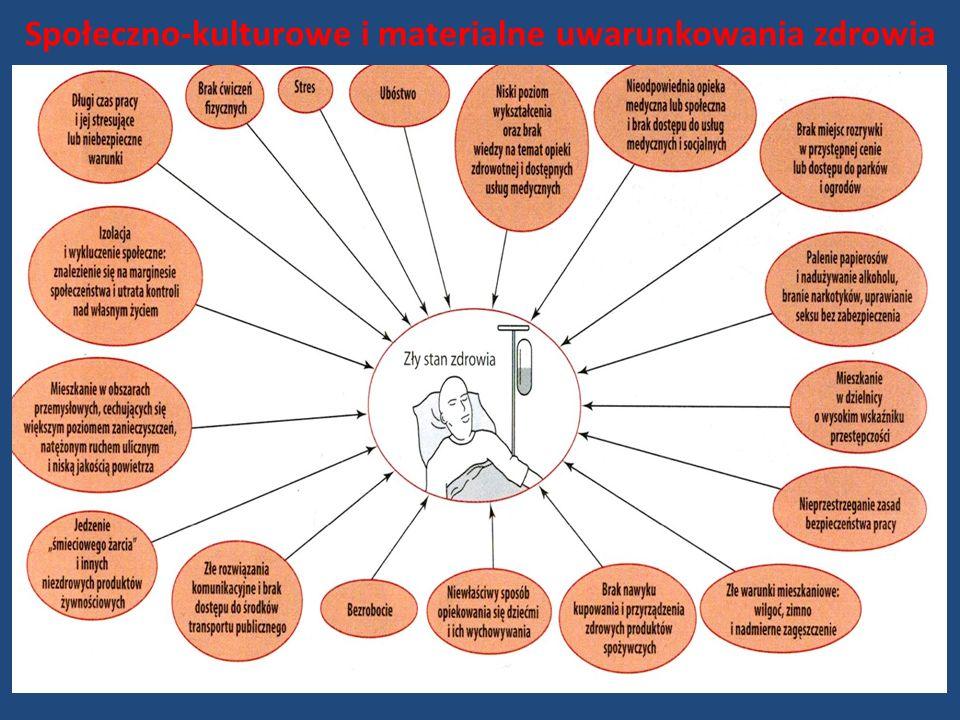 Społeczno-kulturowe i materialne uwarunkowania zdrowia
