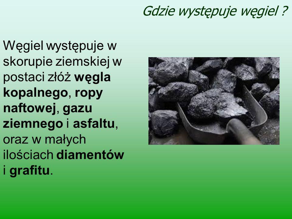 Gdzie występuje węgiel