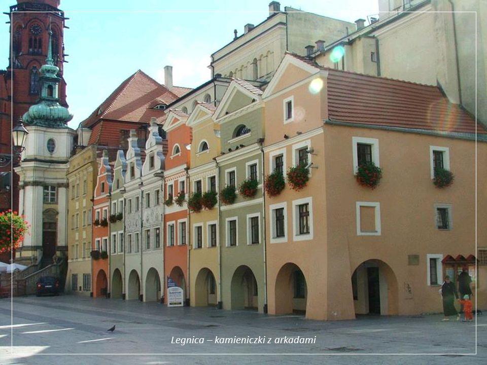 Legnica – kamieniczki z arkadami