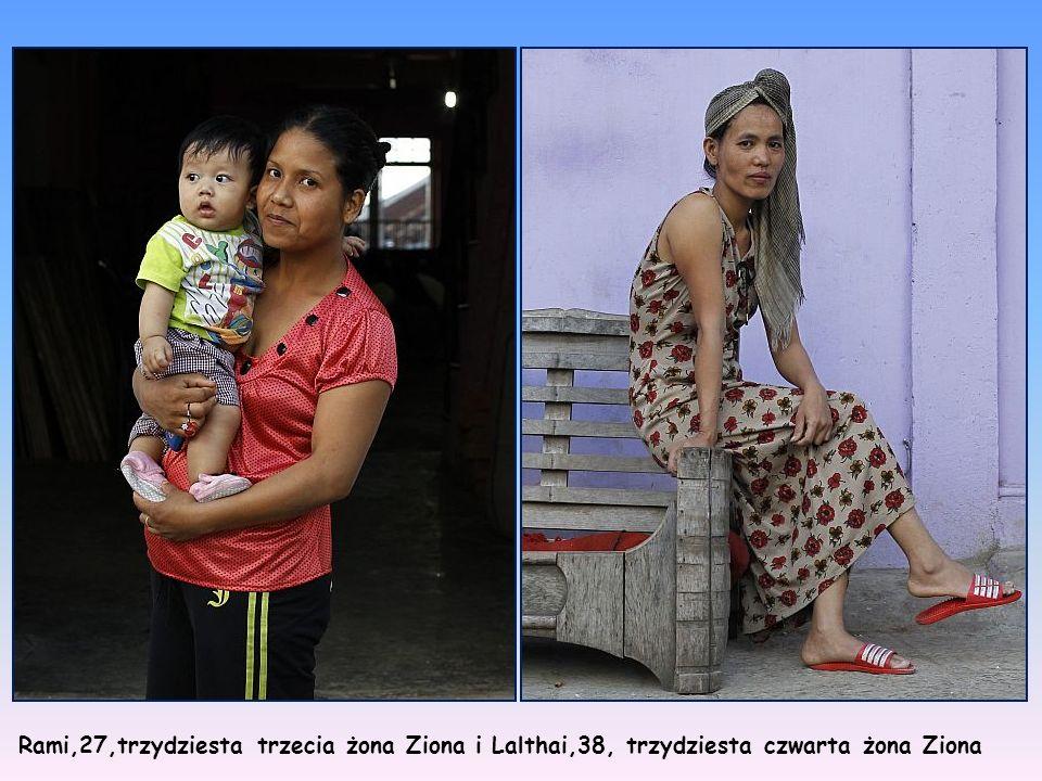 Rami,27,trzydziesta trzecia żona Ziona i Lalthai,38, trzydziesta czwarta żona Ziona