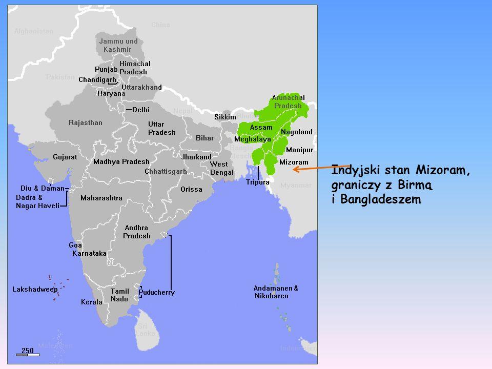Indyjski stan Mizoram, graniczy z Birmą