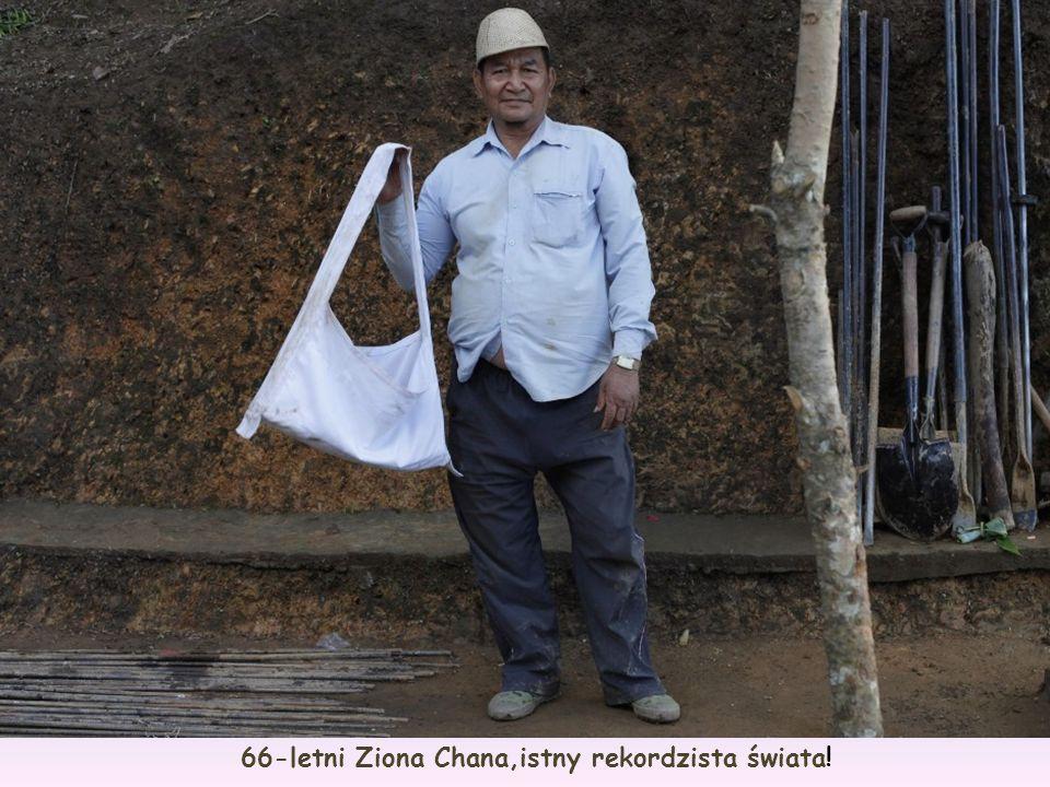 66-letni Ziona Chana,istny rekordzista świata!
