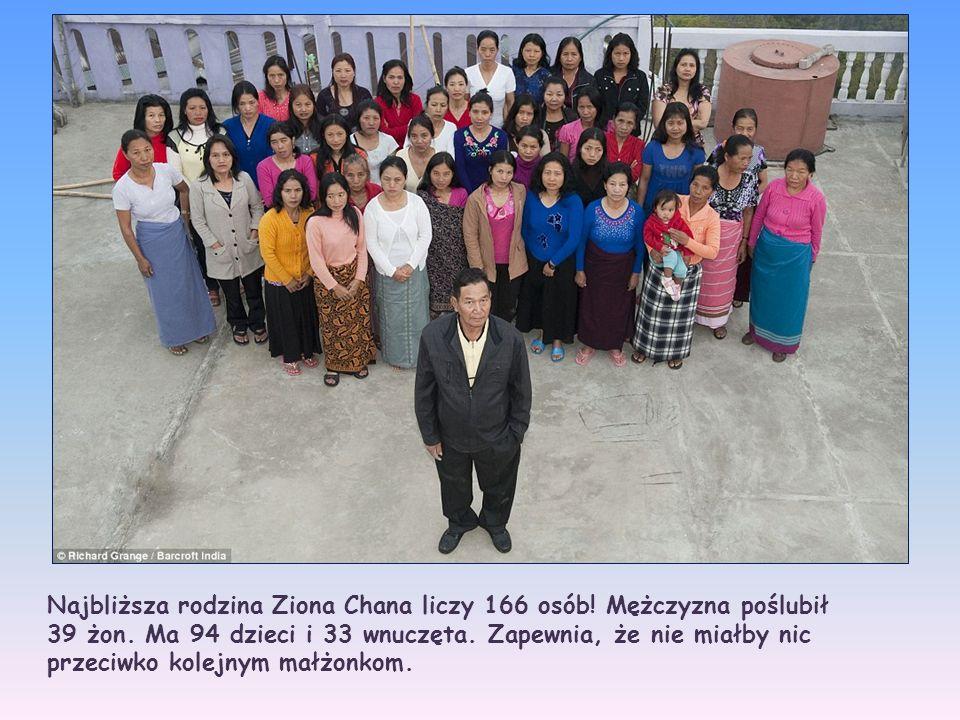 Najbliższa rodzina Ziona Chana liczy 166 osób! Mężczyzna poślubił