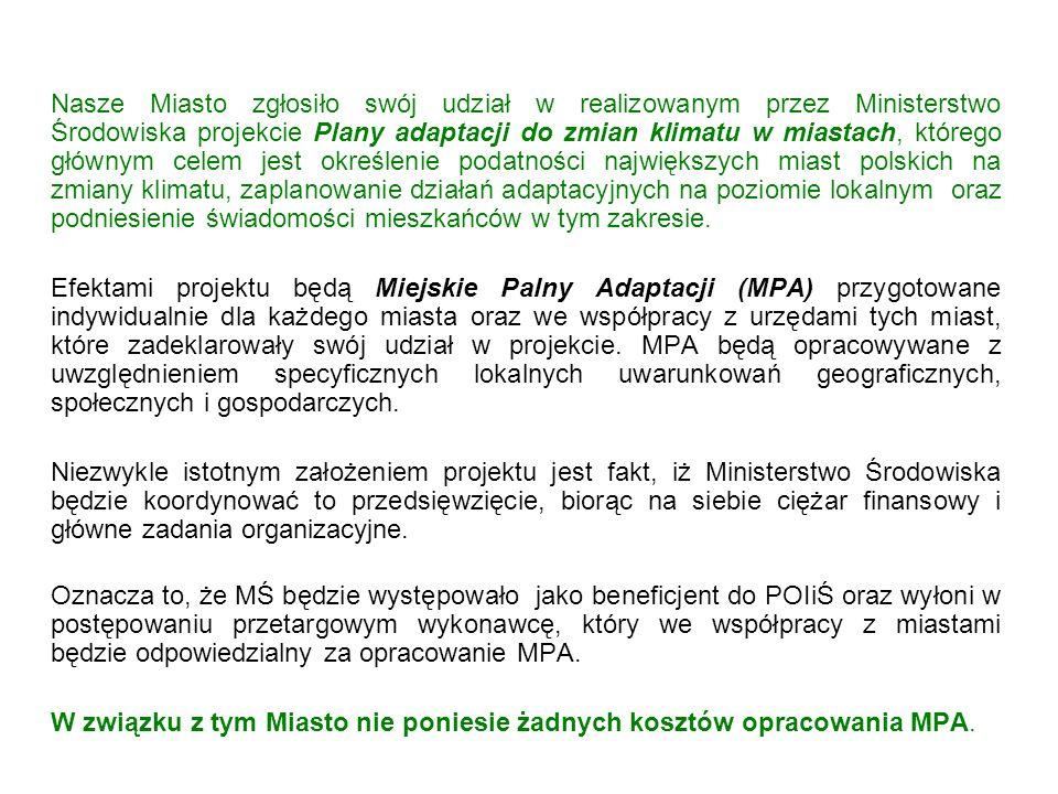 W związku z tym Miasto nie poniesie żadnych kosztów opracowania MPA.