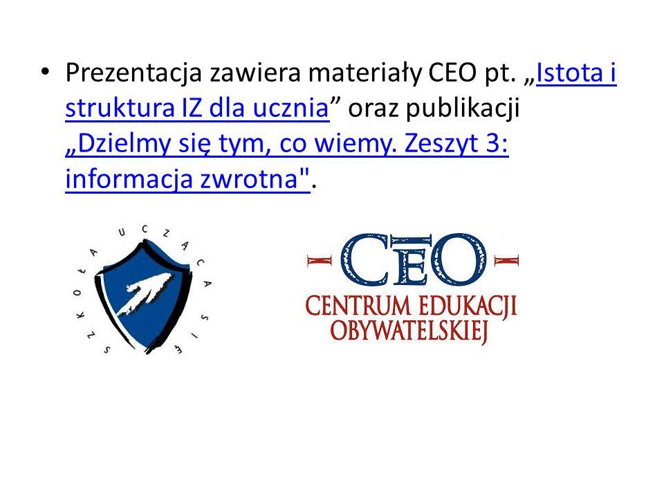 Prezentacja zawiera materiały CEO pt