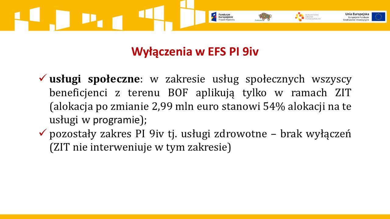 Wyłączenia w EFS PI 9iv
