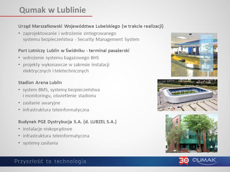 Qumak w Lublinie Urząd Marszałkowski Województwa Lubelskiego (w trakcie realizacji)