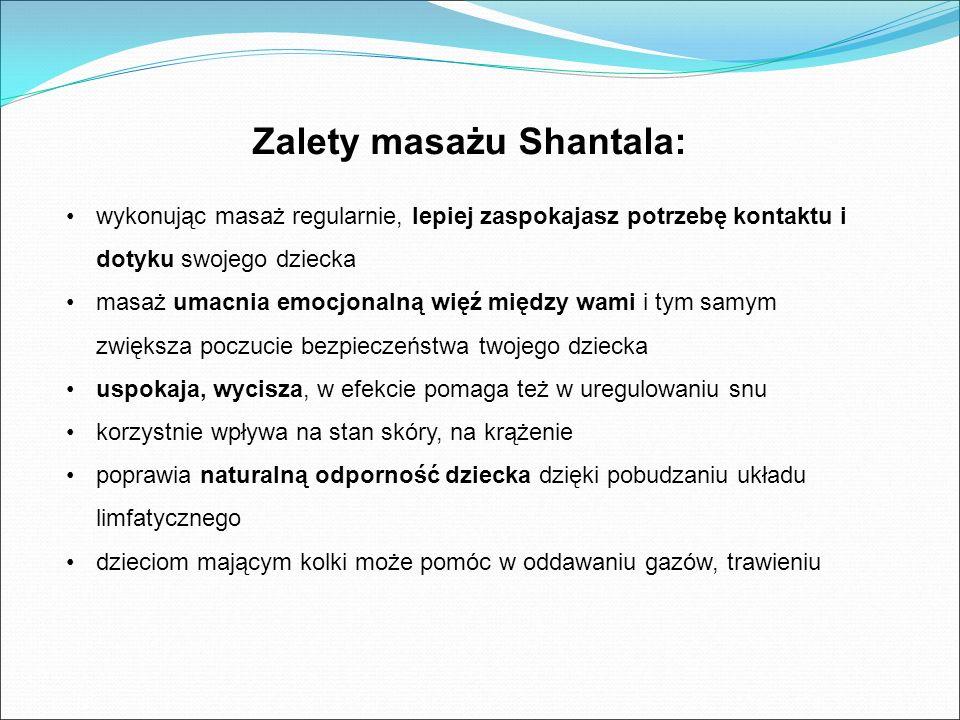 Zalety masażu Shantala: