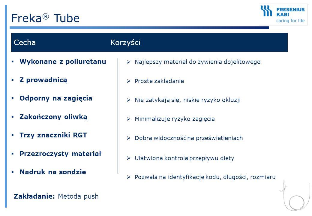 Freka® Tube Cecha Korzyści Wykonane z poliuretanu Z prowadnicą