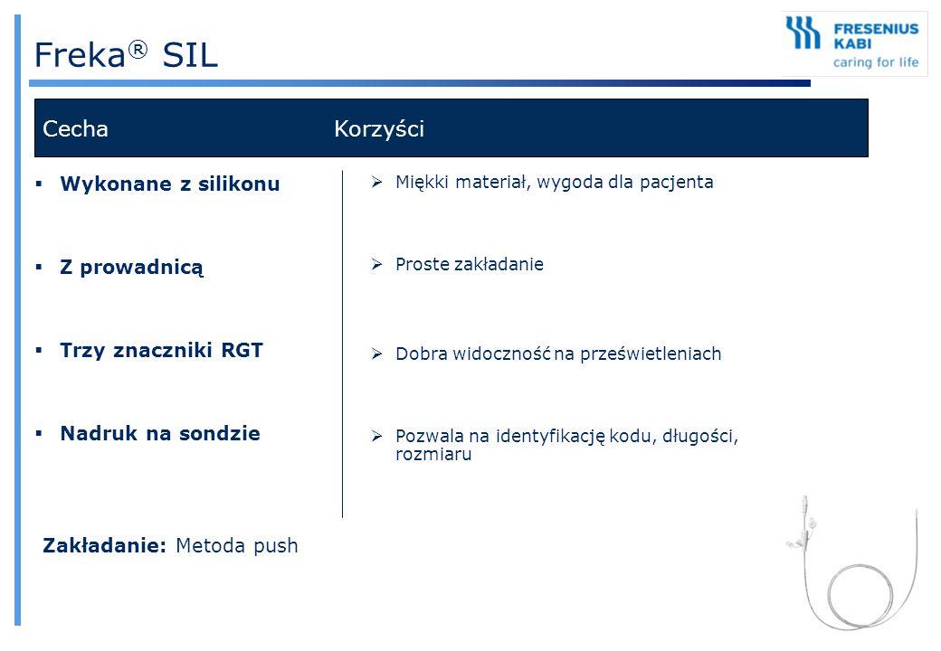 Freka® SIL Cecha Korzyści Wykonane z silikonu Z prowadnicą