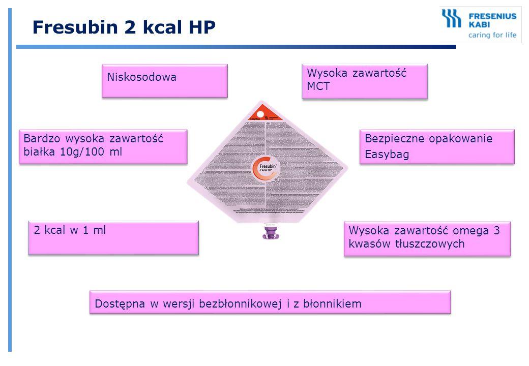 Fresubin 2 kcal HP Niskosodowa Wysoka zawartość MCT