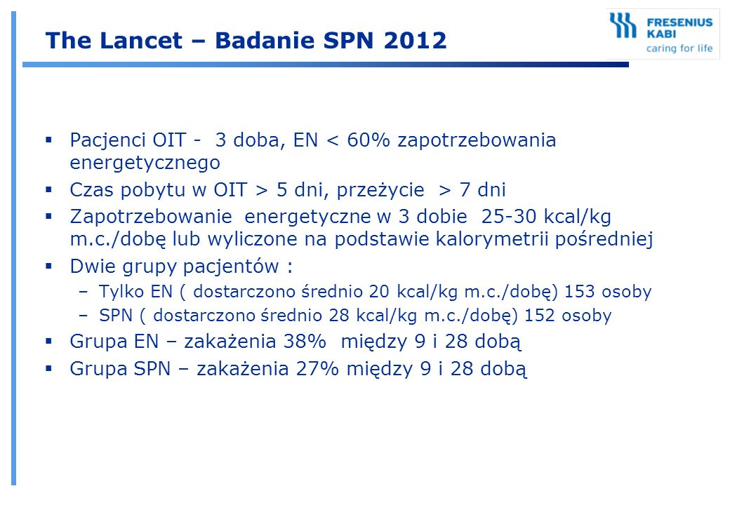 The Lancet – Badanie SPN 2012