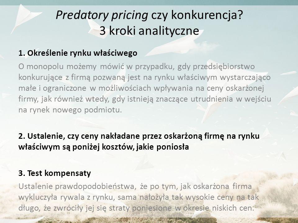 Predatory pricing czy konkurencja 3 kroki analityczne