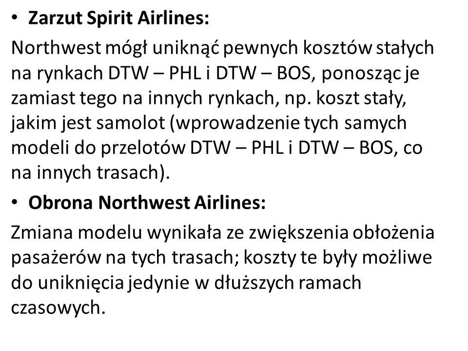 Zarzut Spirit Airlines: