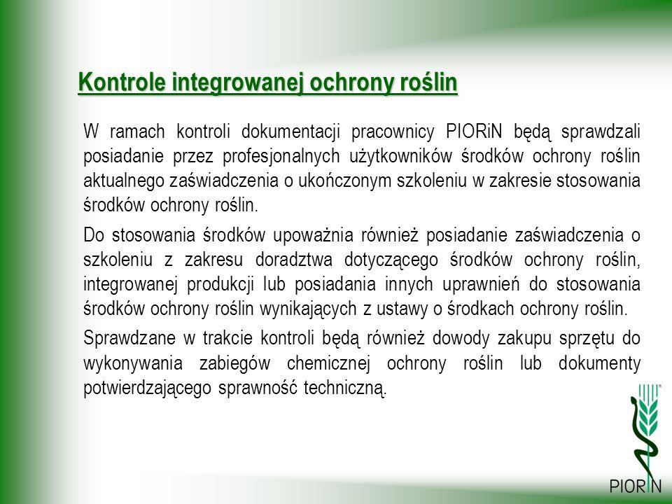 Kontrole integrowanej ochrony roślin