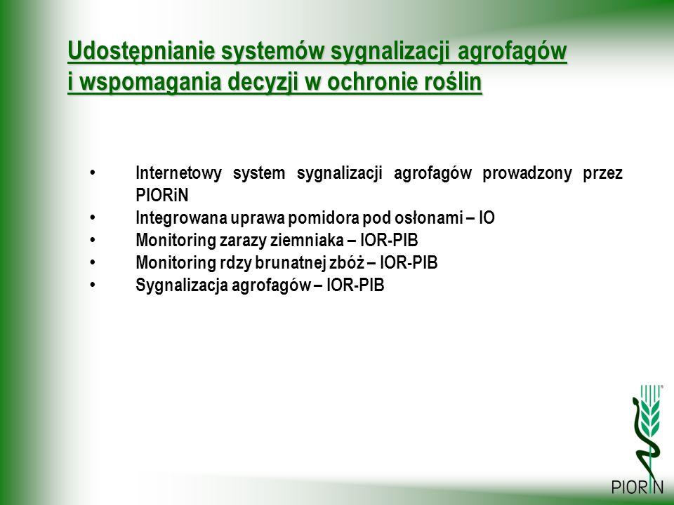 Udostępnianie systemów sygnalizacji agrofagów