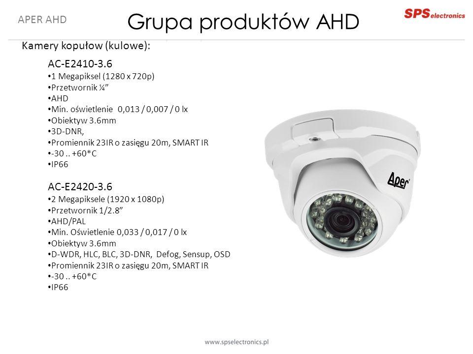 Grupa produktów AHD APER AHD Kamery kopułow (kulowe): AC-E2410-3.6