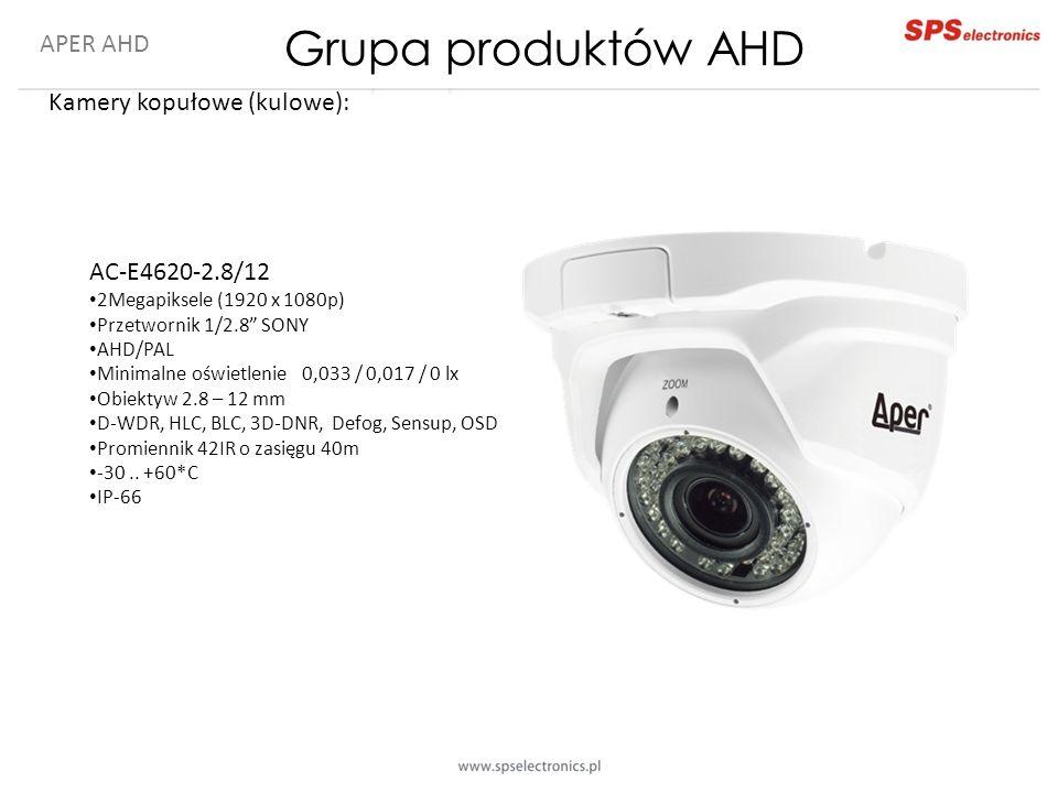 Grupa produktów AHD APER AHD Kamery kopułowe (kulowe): AC-E4620-2.8/12