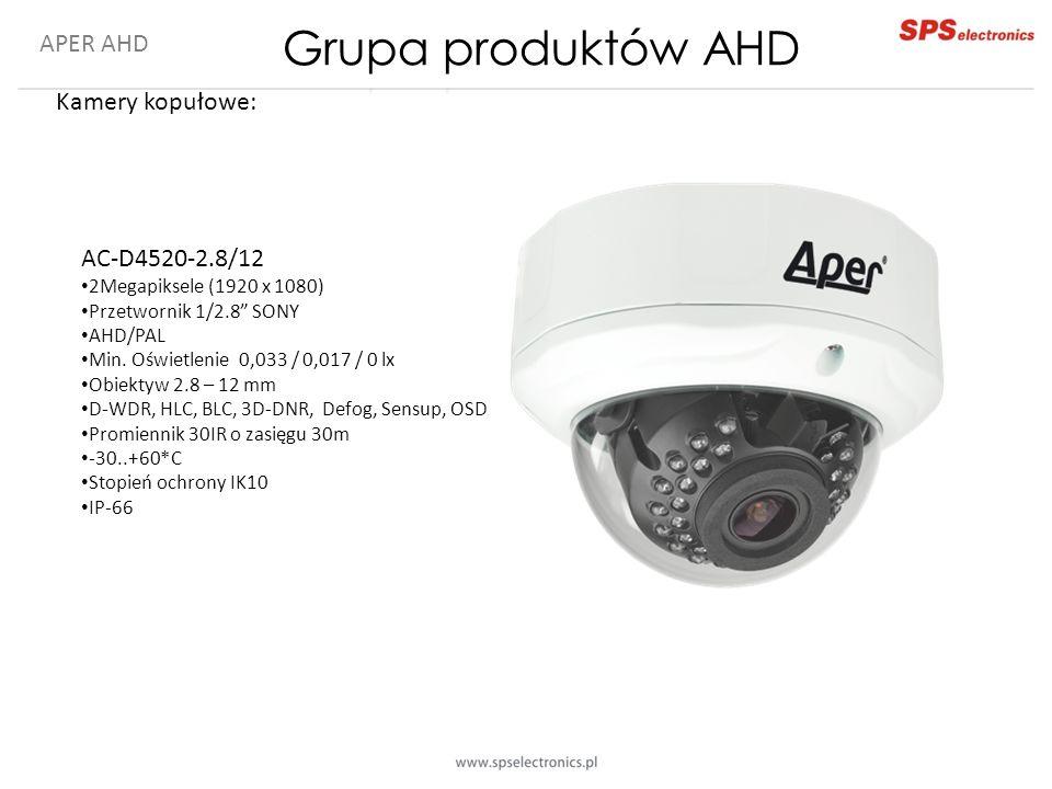 Grupa produktów AHD APER AHD Kamery kopułowe: AC-D4520-2.8/12