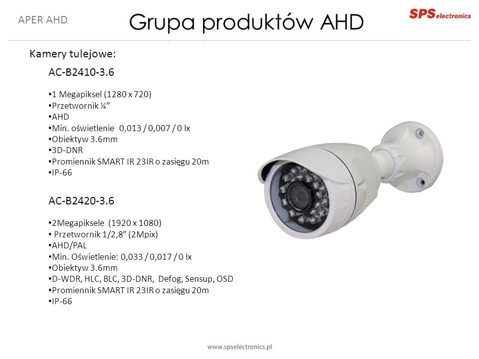Grupa produktów AHD APER AHD Kamery tulejowe: AC-B2410-3.6